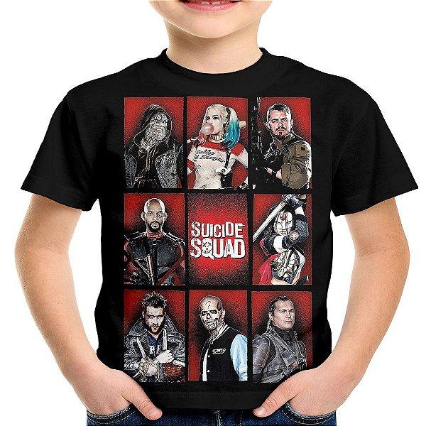 Camiseta Infantil Esquadrão Suicida Md03 - OUTLET