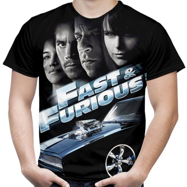 Camiseta Masculina Velozes e Furiosos  Md02  - OUTLET