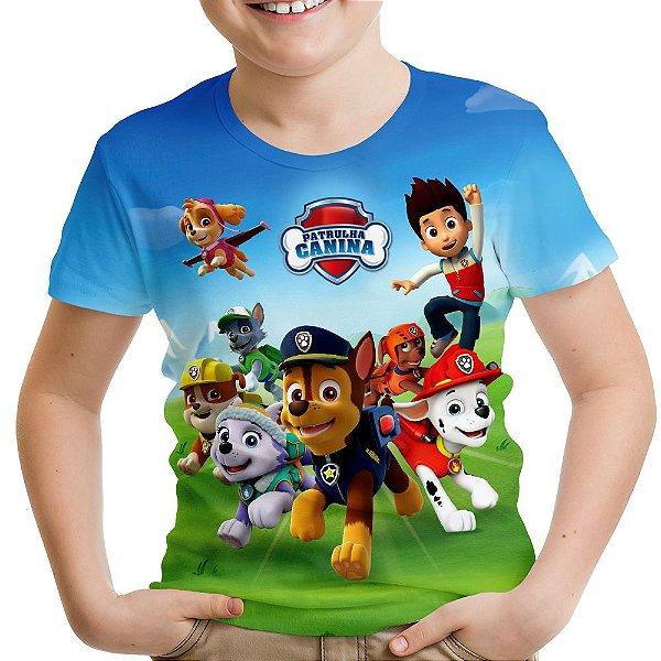 Camiseta Infantil Patrulha Canina - OUTLET
