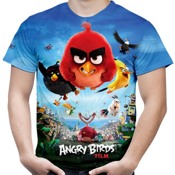 Camiseta Masculina Filme Angry Birds Estampa Total - OUTLET