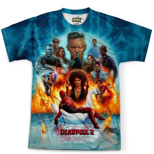 Camiseta Masculina Deadpool Estampa Total MD08