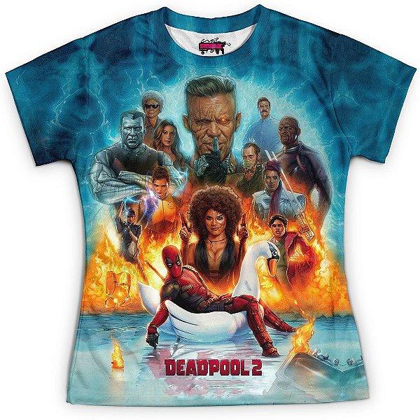 Camiseta Baby Look Filme Deadpool Md08