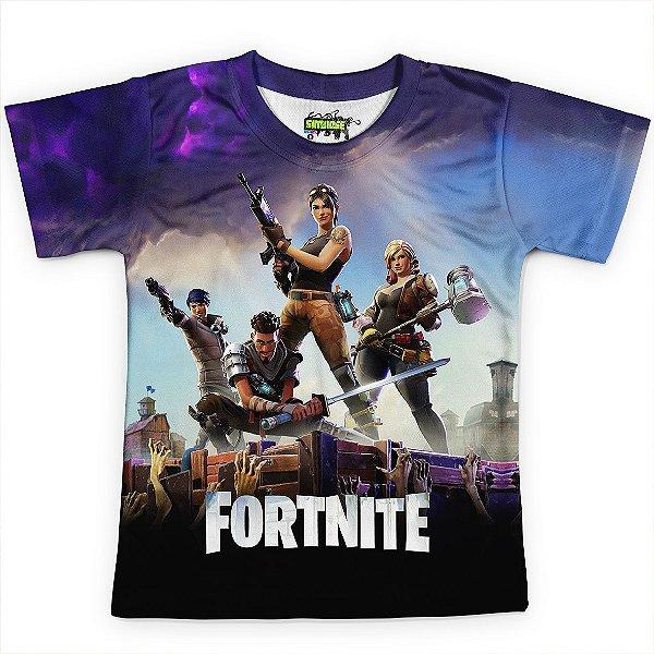 Camiseta Infantil Jogo Fortnite Camisa Md01