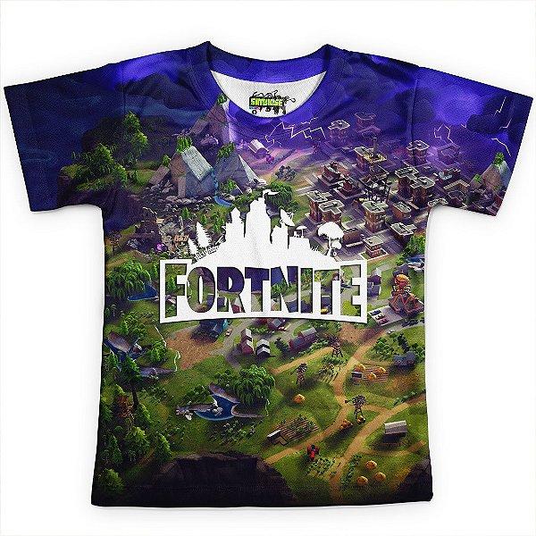 Camiseta Infantil Jogo Fortnite Camisa Md02