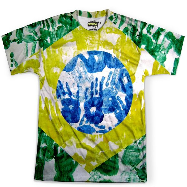 Camiseta Masculina Brasil Bandeira Copa Md02