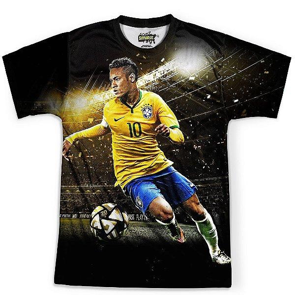 Camiseta Masculina Neymar Brasil Copa Md01