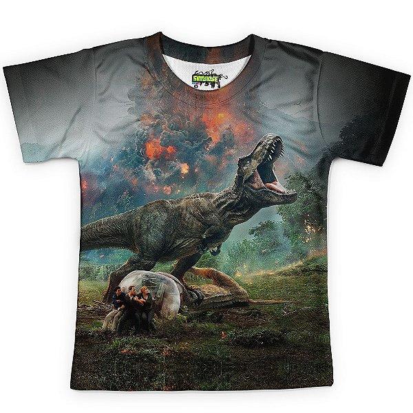 Camiseta Infantil Parque dos Dinossauros Jurassic World Md03