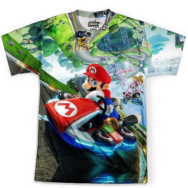 Camiseta Masculina Mario Kart Md01