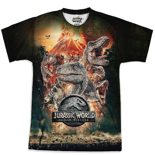 Camiseta Masculina Parque dos Dinossauros Jurassic World Md04- OUTLET