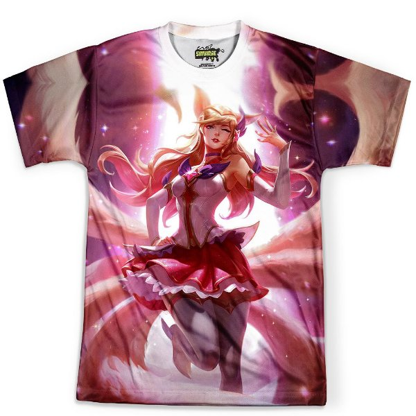 Camiseta Masculina Ahri League Of Legends