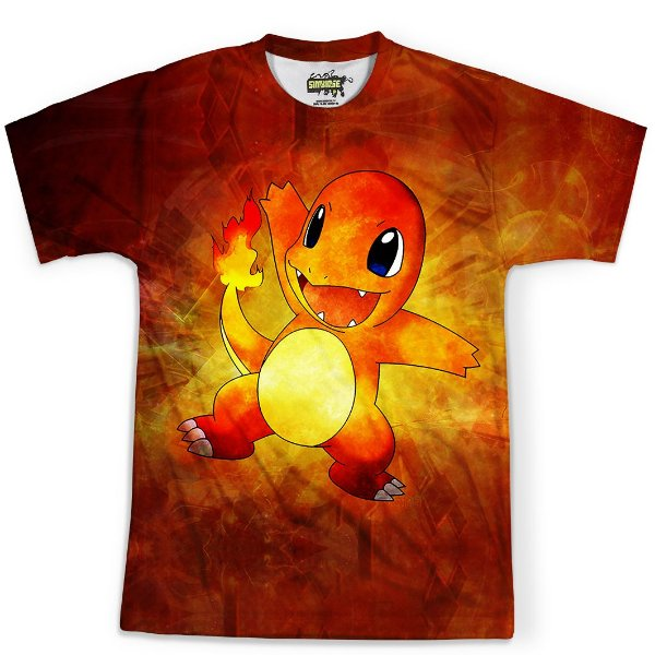Camiseta Masculina Charmander Pokémon