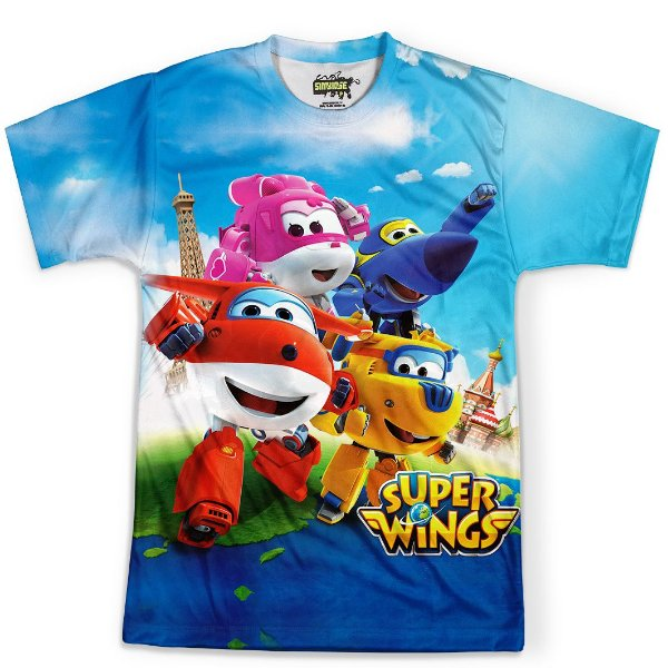 Camiseta Masculina Super Wings