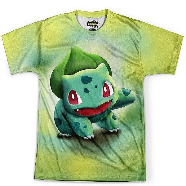 Camiseta Masculina Bulbassauro Pokémon