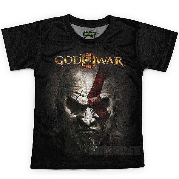 Camiseta Infantil Jogo God of War Md03