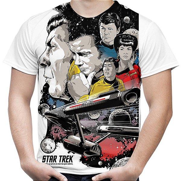 Camiseta Masculina Star Trek Estampa Total Md02 - OUTLET