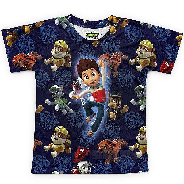 Camiseta Infantil Patrulha Canina Estampa Total MD02