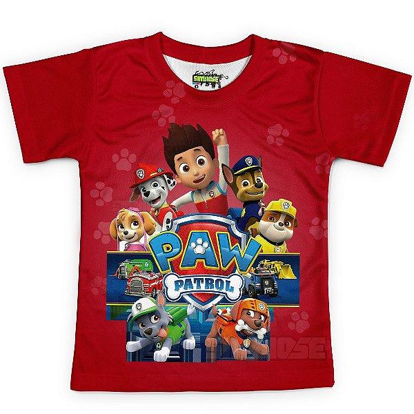 Camiseta Infantil Patrulha Canina Estampa Total MD03