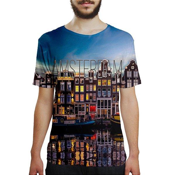 Camiseta Masculina Amsterdam Estampa Digital
