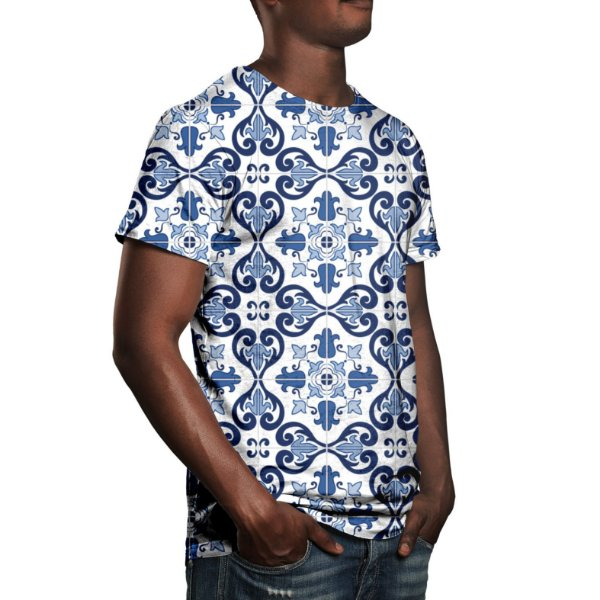 Camiseta Masculina Azulejo Português Estampa Digital