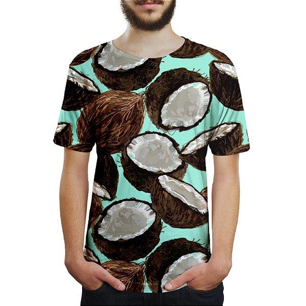 Camiseta Masculina Cocos Estampa Digital