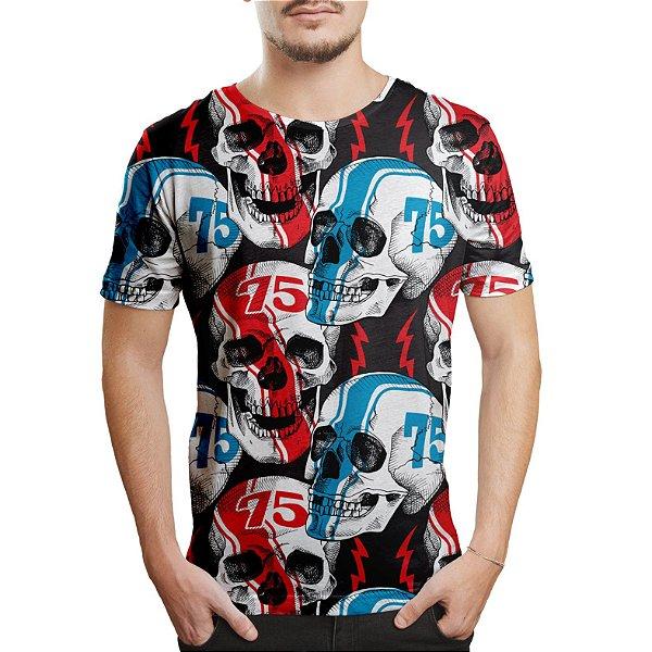 Camiseta Masculina Caveiras Racer Estampa Digital