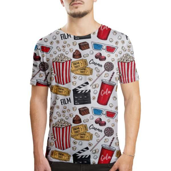 Camiseta Masculina Cinema Estampa Digital