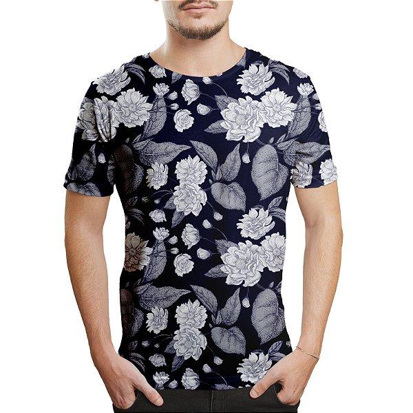 Camiseta Masculina Flor da Ameixa Chinesa Estampa Digital