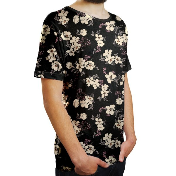 Camiseta Masculina Flor da Cerejeira Estampa Digital