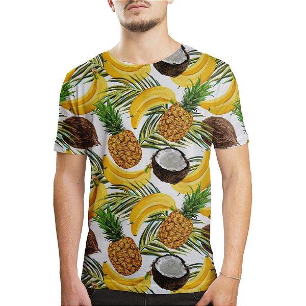 Camiseta Masculina Frutas Estampa Digital