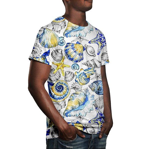 Camiseta Masculina Fundo do Mar Vintage Estampa Digital