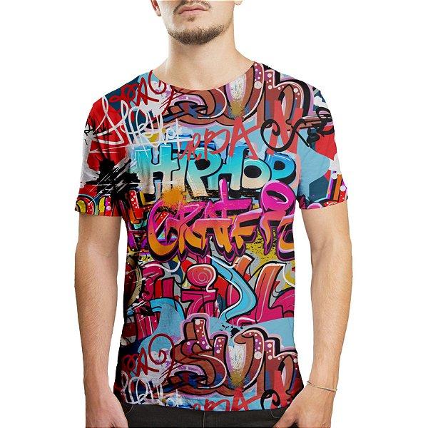 Camiseta Masculina Grafite Hip Hop Grafiti Estampa Digital
