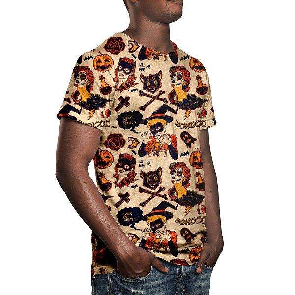 Camiseta Masculina Halloween Estampa Digital