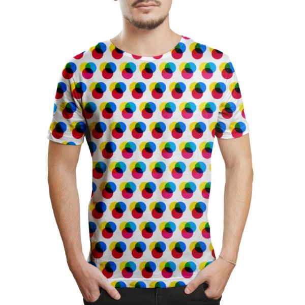 Camiseta Masculina Imagem RGB Estampa Digital