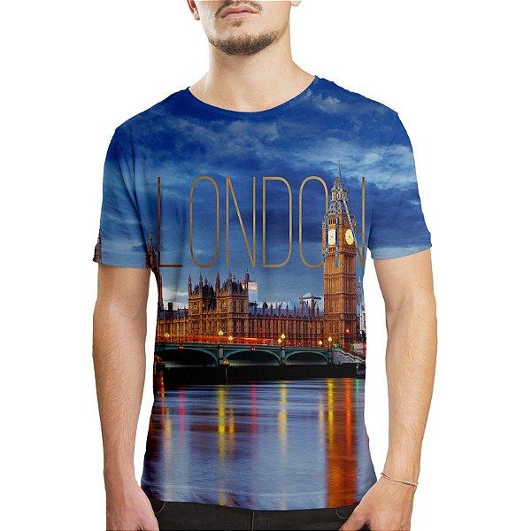 Camiseta Masculina Londres Estampa Digital