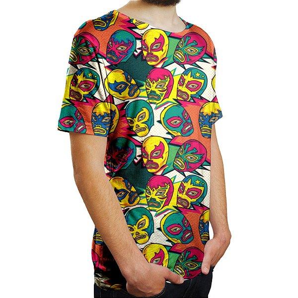 Camiseta Masculina Lucha Libre Westler Mexicano Estampa Digital