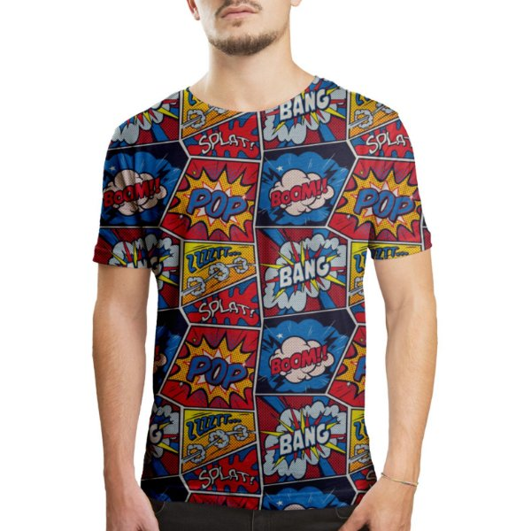 Camiseta Masculina Retro Pop Arte Estampa Digital