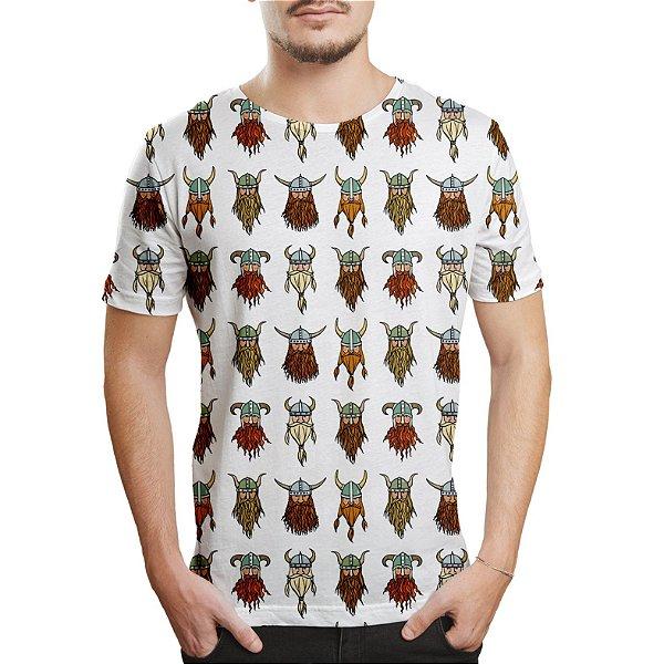 Camiseta Masculina Vikings Estampa Digital