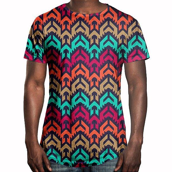 Camiseta Masculina Longline Swag Vetor Tribal Estampa Digital