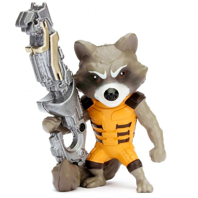 Rocket Raccoon 10cm metal Die Cast Guardiões Da Galaxia M154