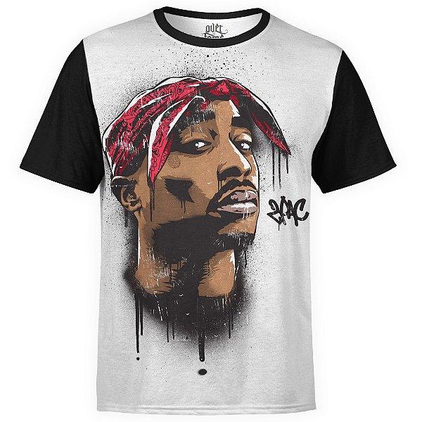 Camiseta masculina 2PAC Estampa Digital Tupac Shakur md04