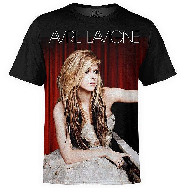 Camiseta masculina Avril Lavigne Estampa Digital md01