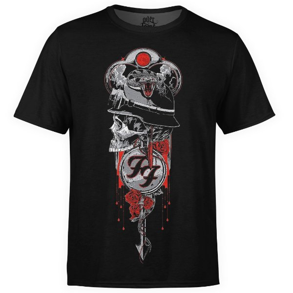 Camiseta masculina Foo Fighters Estampa digital md03