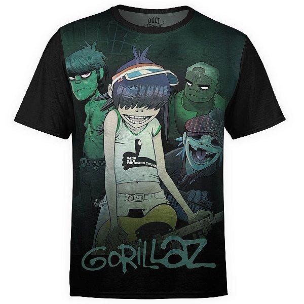 Camiseta masculina Gorillaz Estampa digital md01