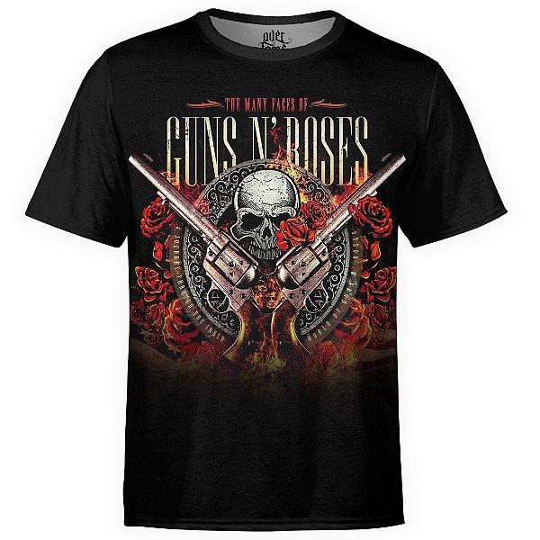 Camiseta masculina Guns N' Roses Estampa digital md04