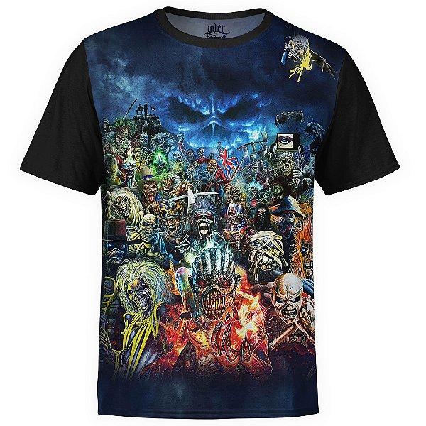 Camiseta masculina Iron Maiden Estampa digital md01