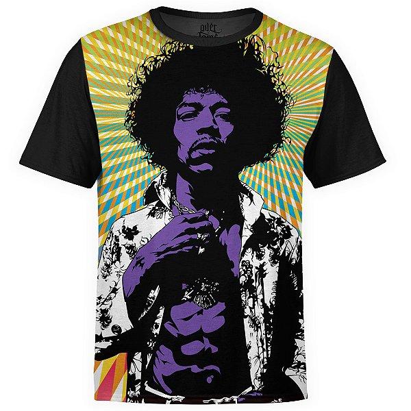 Camiseta masculina Jimi Hendrix Estampa digital md01