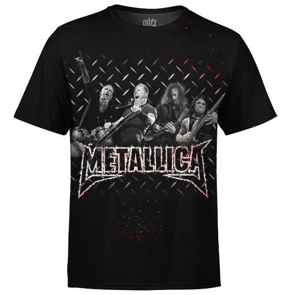 Camiseta masculina Metallica Estampa digital md01