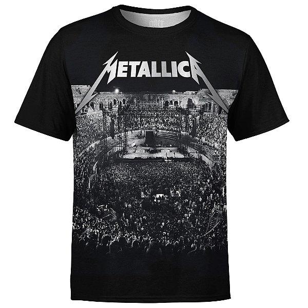 Camiseta masculina Metallica Estampa digital md04