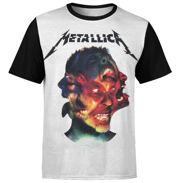 Camiseta masculina Metallica Estampa digital md03