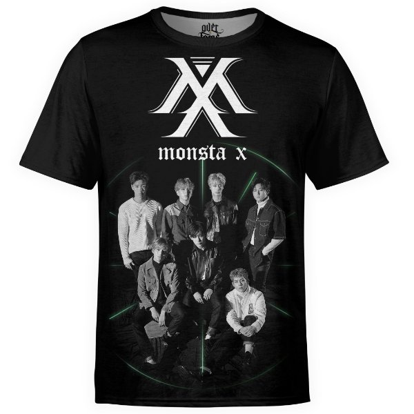 Camiseta masculina Monsta X Estampa digital md01